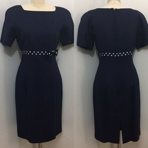 Brooks Brothers Short Sleeve Fitted Dress